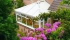 Edwardian upvc conservatory garden flowers