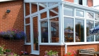 Lean to conservatory house extension