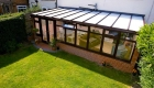 Lean to conservatory rose wood