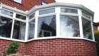P-shaped conservatory double glazing