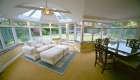 P-shaped conservatory interior lounge