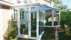 P-shaped conservatory patio