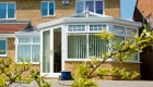 P-shaped conservatory paving
