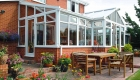 P-shaped conservatory triple glazing