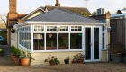 Solid roof conservatory cream triple glazing
