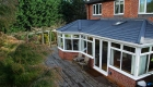 Solid roof conservatory decking