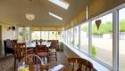 Solid roof conservatory interior cream