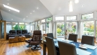 Solid roof conservatory interior pvcu