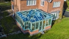 T-shaped conservatory chartwell green