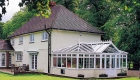 T-shaped conservatory double glazing
