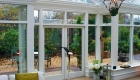 T-shaped conservatory interior